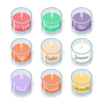 Набор рисованной ароматической свечи