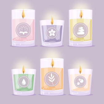 Hand drawn scented candles