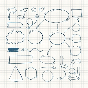 Hand drawn school infographic elements