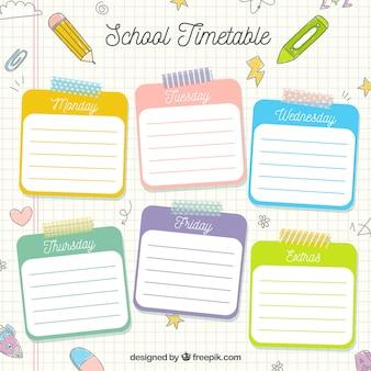Шаблон расписания для рисованной школы