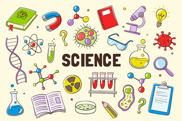 Hand drawn science education background | Free Vector