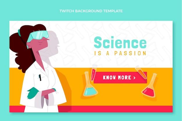 손으로 그린 과학 트 위치 배경