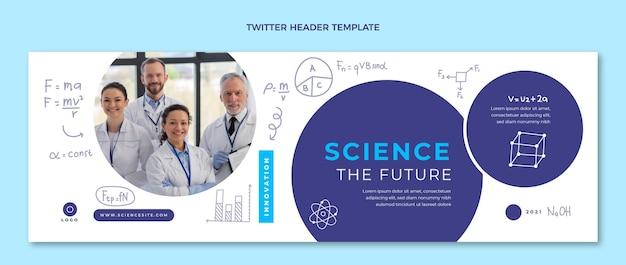 Hand drawn science twitter header template