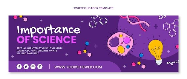 Hand drawn science twitter header
