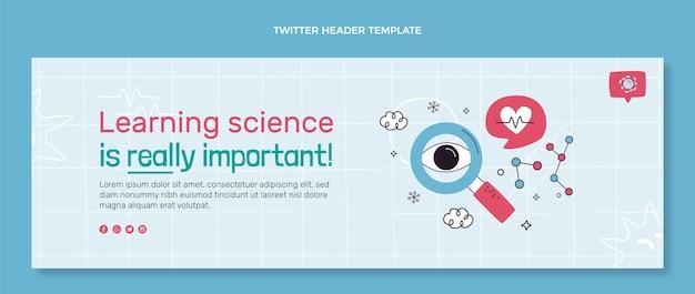 Intestazione di twitter scientifica disegnata a mano