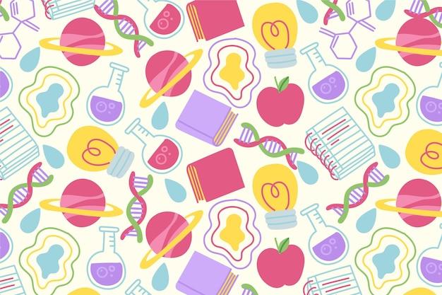 Carta da parati scienza disegnata a mano