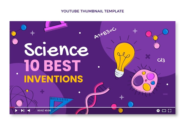 손으로 그린 과학 youtube 미리보기 이미지