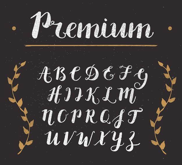 손으로 그린 스크립트 알파벳