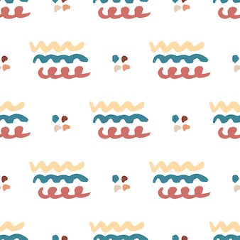 Hand drawn seamless abstract pattern