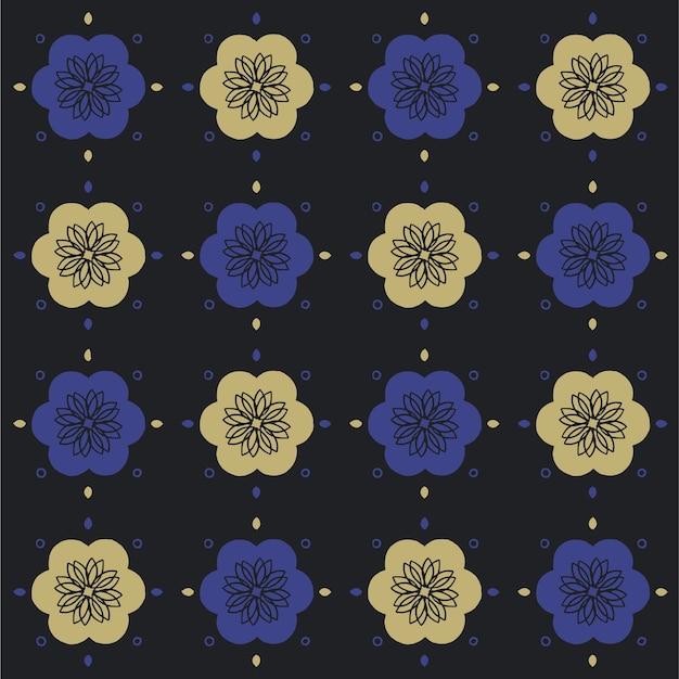 손으로 그린 된 완벽 한 패턴입니다. 한국 전통 패턴. 꽃 배경 디자인.