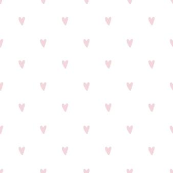ハートで手描きのシームレスなパターン。ベクター
