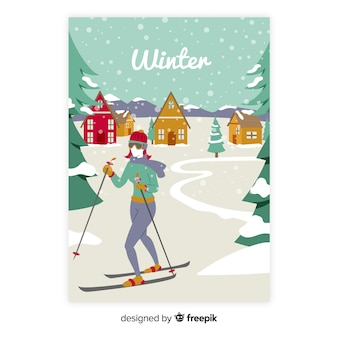 Hand drawn seasonal poster collection