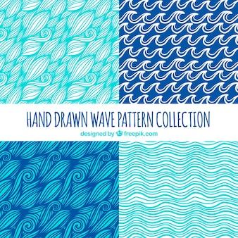 Selezione a mano di quattro modelli di onde