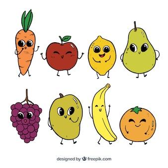 Ручной выбор смешных персонажей фруктов