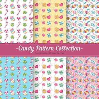 Нарисованный вручную набор конфет