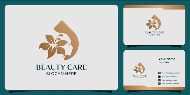 Ручной обращается набор женских шаблонов логотипов для красоты и визиток Premium векторы