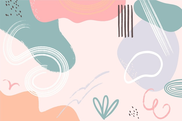 Hand drawn shapes background