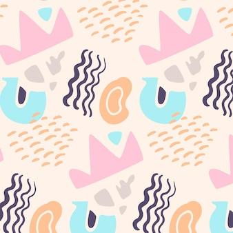 手描きの形のパターン