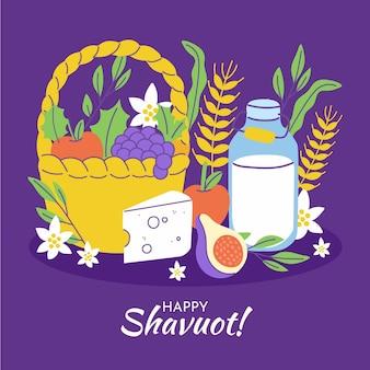 Illustrazione di shavout disegnata a mano