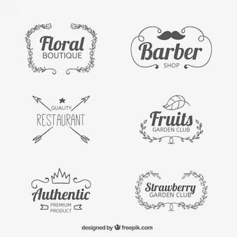 Hand drawn shop badges