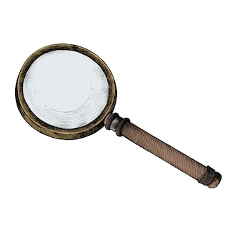 Hand drawn sketch of a magnifying glass