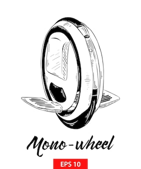 Hand drawn sketch of mono-wheel