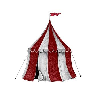 Рисованный эскиз цирковой палатки