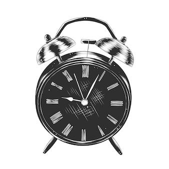 目覚まし時計の手描きのスケッチ