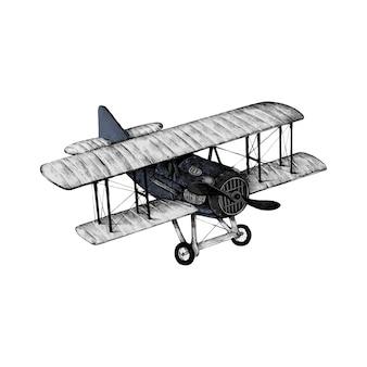 Рисованный эскиз самолета Premium векторы