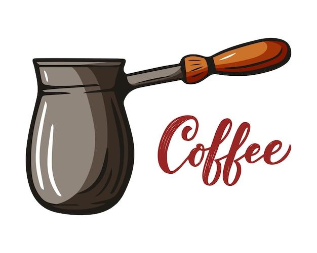 Ручной обращается эскиз напитка для меню кафе