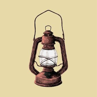 Hand drawn sketch of old fashioned lantern