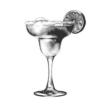 Ручной обращается эскиз летнего коктейля