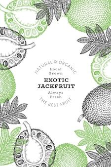 손으로 그린 스케치 스타일 jackfruit
