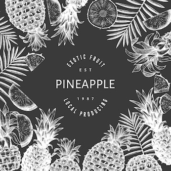 Hand drawn sketch style pineapple