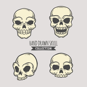 Hand drawn skull collection