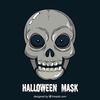 Maschera del cranio disegnata a mano
