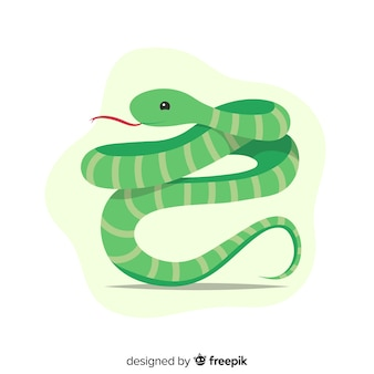 Hand drawn snake hissing background