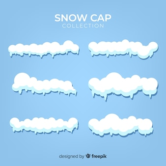 Hand drawn snow cap collection