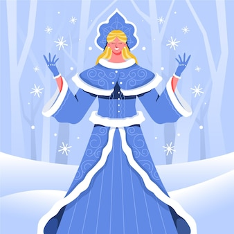 Ручной обращается персонаж снегурочки