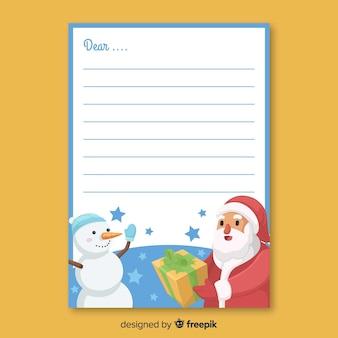 Ручной обращается снеговик рождественский конверт