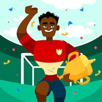 Hand drawn soccer league final illustration