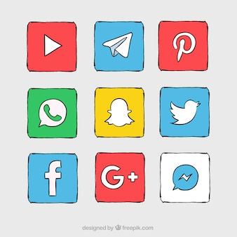 Hand drawn social network collection