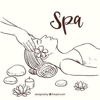 Hand drawn spa background