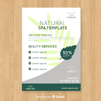 Hand drawn spa flyer template