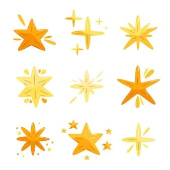 손으로 그린 반짝이 스타 컬렉션