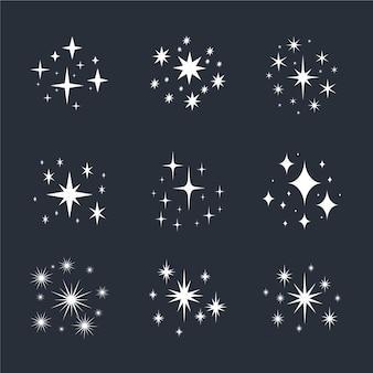 手描きの輝く星のコレクション