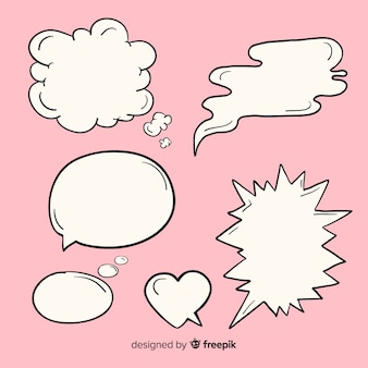 Hand drawn speech balloons collection