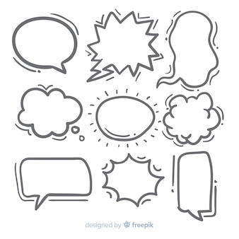 Hand-drawn speech bubble collection