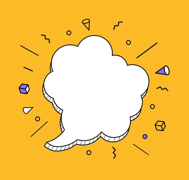 Hand drawn speech bubbles icon.