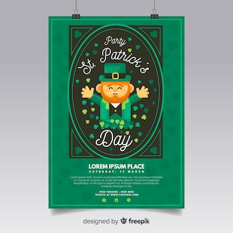 Hand drawn spirit st patrick's party poster